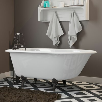 "55"" x 30"" Clawfoot Bathtub Finish: Oil Rubbed Bronze"