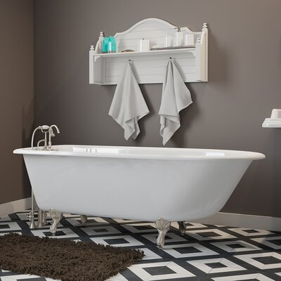 "61"" x 30"" Clawfoot Bathtub Finish: Brushed Nickel"