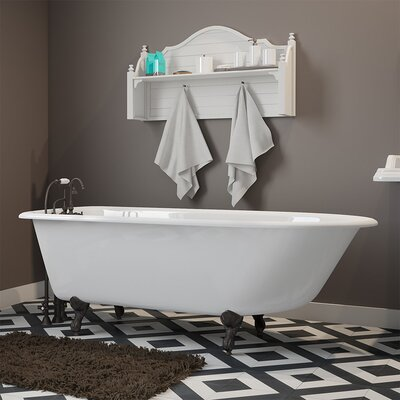 "61"" x 30"" Clawfoot Bathtub Finish: Oil Rubbed Bronze"