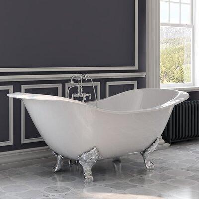 """71"""" x 31"""" Clawfoot Bathtub Leg Finish: Polished Chrome"""