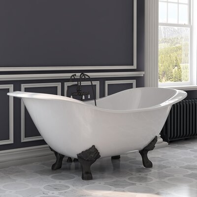 "71"" x 30"" Freestanding Bathtub Finish: Oil Rubbed Bronze"