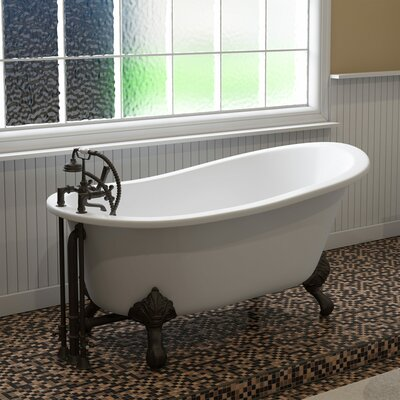 "61"" x 28"" Clawfoot Bathtub Finish: Oil Rubbed Bronze"