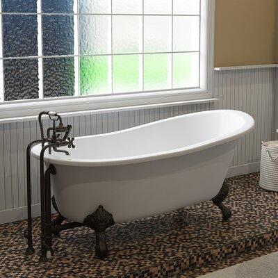 "67"" x 30"" Clawfoot Bathtub Finish: Oil Rubbed Bronze"