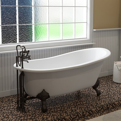 "67"" x 30"" Clawfoot Bathtub Finish: Oil Rubbed Bronze"