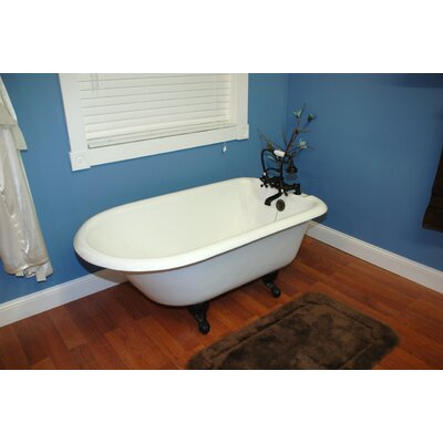 "55"" x 30"" Clawfoot Bathtub Leg Finish: Oil Rubbed Bronze, Faucet Mount: Deck Mount"