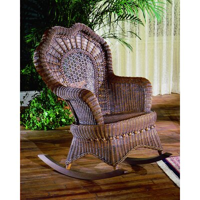 Serpentine Rocking Chair Upholstery: Brownwash