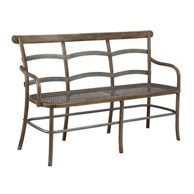 Lopresti Chevell Metal Bench Color: Timberwood