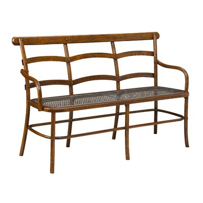 Lopresti Chevell Metal Bench Color: Coffee Brown