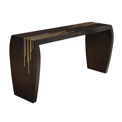 Kepler Negroni Console Table Color: Ebony