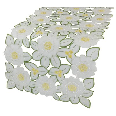 """Dainty Flowers Table Runner Size: 54"""" W x 15"""" L"""