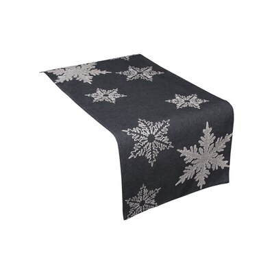 """Snowflake Embroidered Christmas Table Runner Color: Gray, Size: 70"""" W x 16"""" L"""