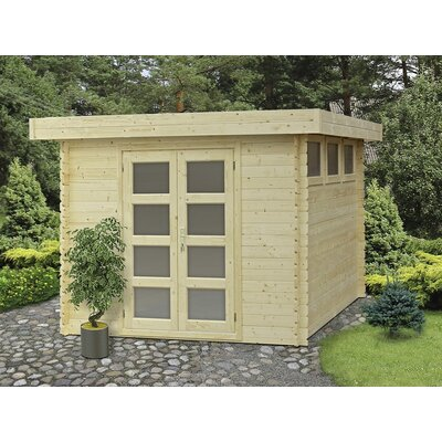 Moderna 9 ft. 9 in. W x 9 ft. 9 in. D Wooden Storage Shed