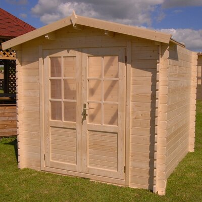 SolidBuild Optima 7 Ft. W x 7 Ft. D Solid Wood Garden Shed