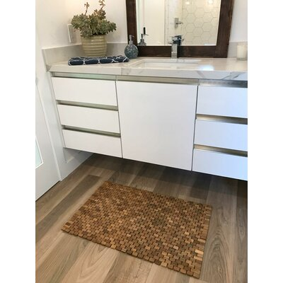 Oversized Solid Teak Indoor/Outdoor Floor Mat