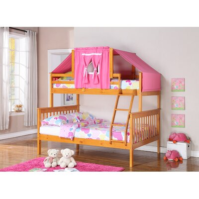 Auvergne Twin over Full Bunk Bed Color: Cappuccino, Accessory Color: Blue