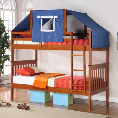 Auvergne Twin over Twin Bunk Bed Color: Espresso