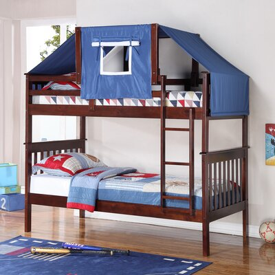 Auvergne Twin over Twin Bunk Bed Color: Cappuccino