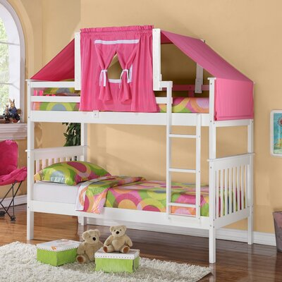 Solar Twin over Twin Bunk Bed Color: White