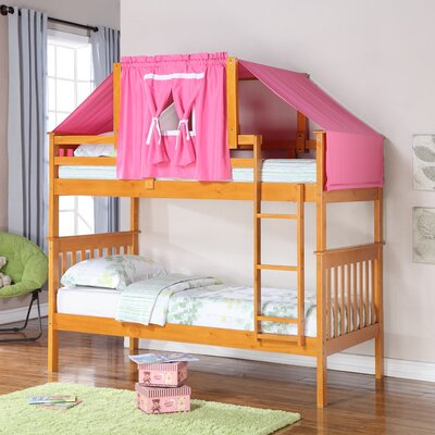 Solar Twin over Twin Bunk Bed Color: Honey