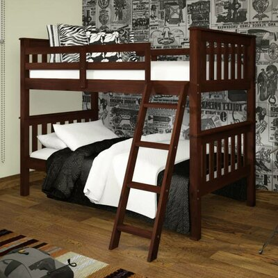 Auvergne Twin over Twin Bunk Bed Color: Dark Cappuccino