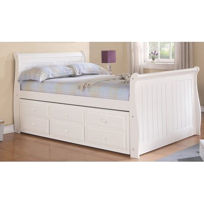 Stoudt Sleigh Bed with Trundle and Storage Size: Full