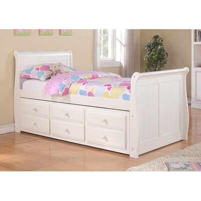 Stoudt Sleigh Bed with Trundle and Storage Size: Twin