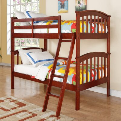 Ilbert Twin over Twin Slat Bunk Bed Color: Cherry