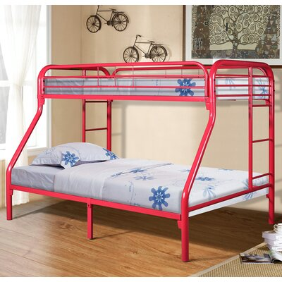 Drury Twin Slat Bunk Bed Color: Red