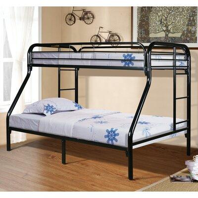 Drury Twin Slat Bunk Bed Color: Black