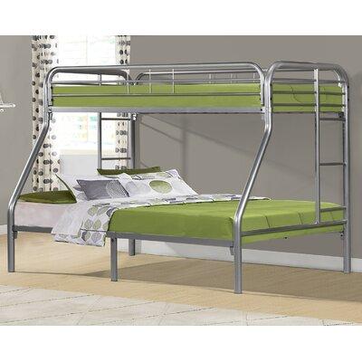 Drury Twin Slat Bunk Bed Color: Silver