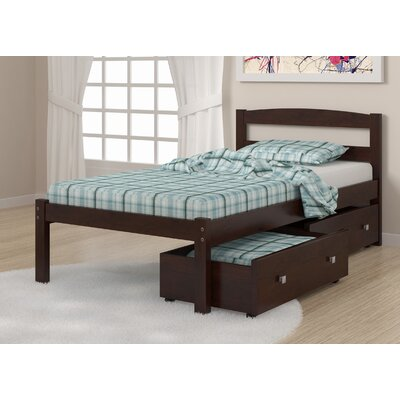 Goddard Full/Double Storage Platform Bed Size: Twin, Color: Dark Cappuccino