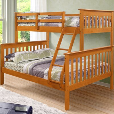 Solar Twin over Full Bunk Bed Color: Honey