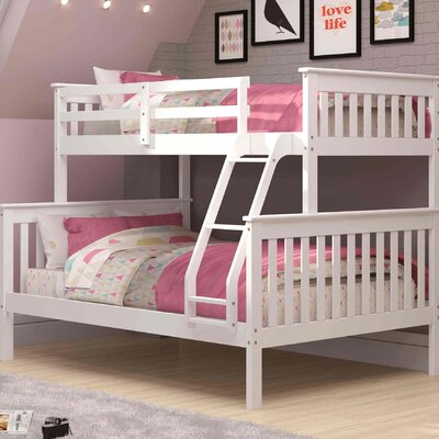 Solar Twin over Full Bunk Bed Color: White