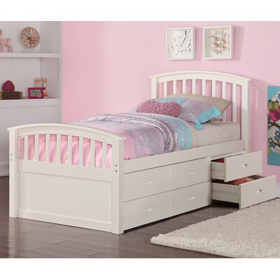 Dolby Twin Slat Bed with Drawers Color: White
