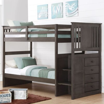 Downer Stairway Bunk Bed Size: Twin over Twin