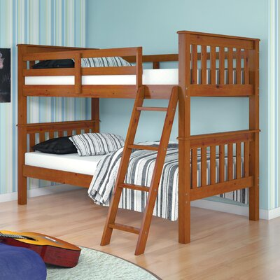 Auvergne Twin over Twin Bunk Bed Color: Light Espresso