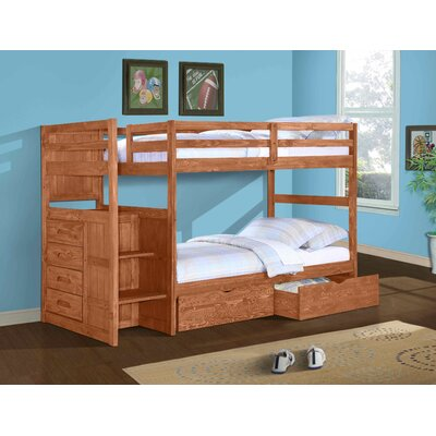 Walnut River Twin over Twin Bunk Bed with Storage