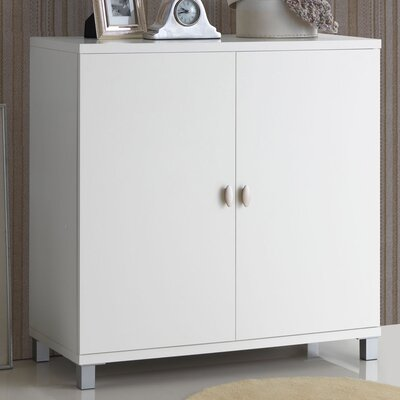 Spicer 2 Door Accent Cabinet Color: White