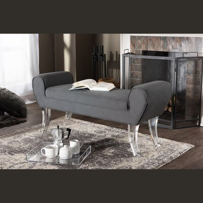 Kaplan Modern and Contemporary Linen Upholstered Luxe Bench Upholstery Color: Grey