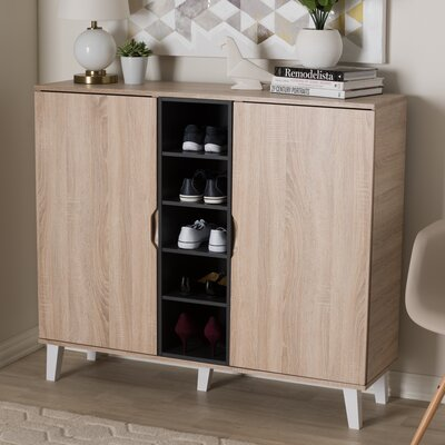 Jamar 38 Pair Shoe Storage Cabinet