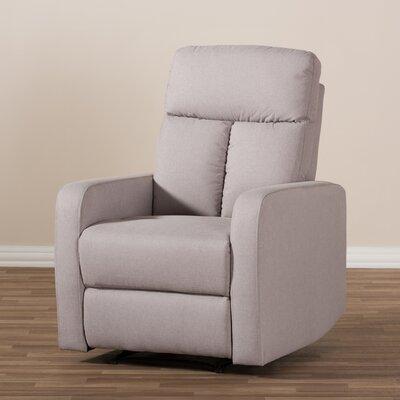 Jinnie Power Recliner Upholstery: Light Brown