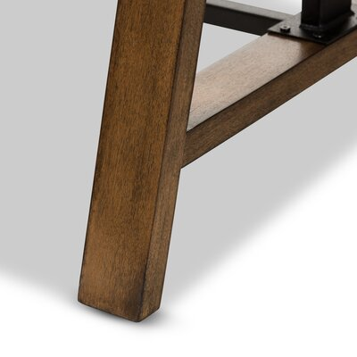 Ailith Metal and Distressed Wood Standing Desk