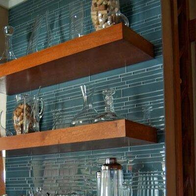 Club Random Sized Glass Mosaic Tile in Glossy Gray