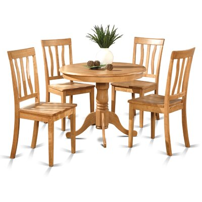 5 Piece Dining Set Finish: Oak