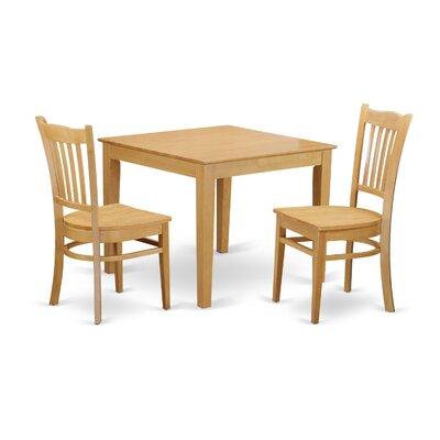 Hillhouse 3 Piece Dining Set Color: Oak