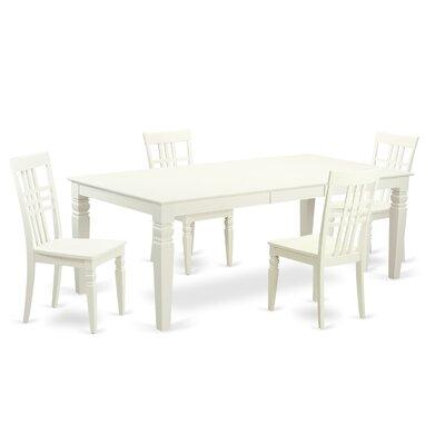 Beesley 5 Piece White Wood Dining Set Finish: Linen White