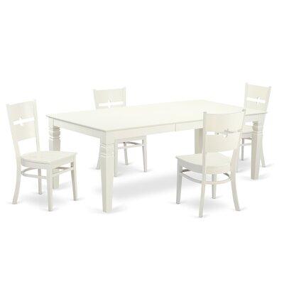 Cowen 5 Piece Dining Set Color: Linen white