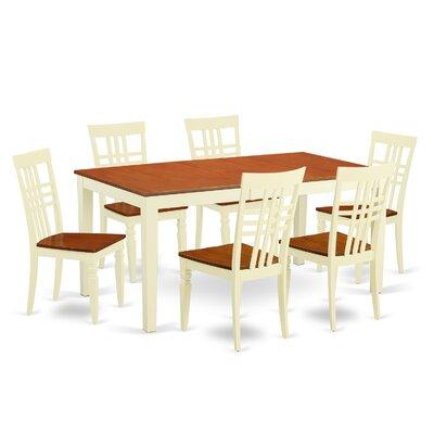 7 Piece Dining Set Chair Finish: Buttermilk