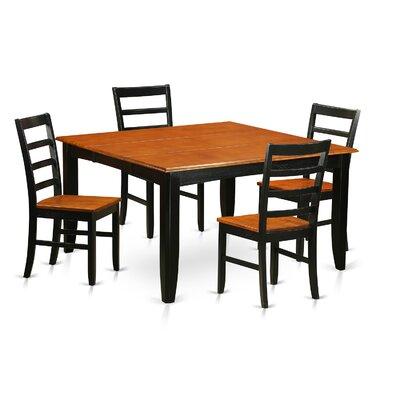 Parfait 5 Piece Extendable Dining Set Finish: Black