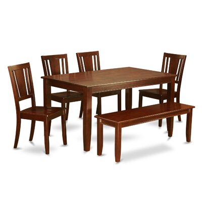 Dudley 6 Piece Dining Set Finish: Mahogany